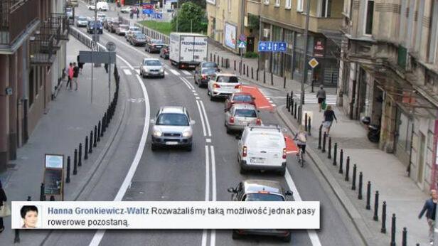Pasy rowerowe na Tamce zostają Pełnomocnik prezydent ds. rowerów