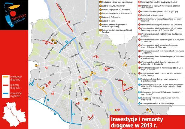 Poprawiony plan remontów na 2013 rok ZDM