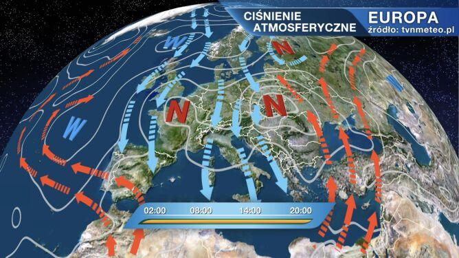 Dwie masy powietrza zderzają się nad Polską