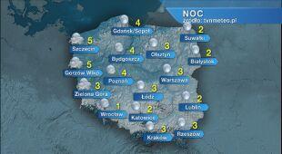 Prognoza pogody na noc 25/26.02