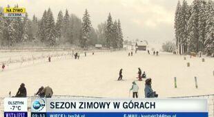 Na początek ferii w górach śniegu pod dostatkiem (TVN24)
