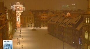 Śnieżny poranek w północnej i zachodniej Polsce (TVN24)